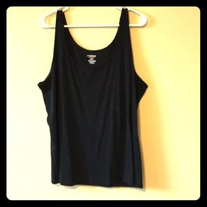 Lane Bryant black sequined tank top